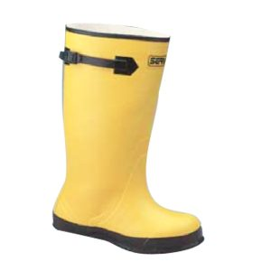 rubber over shoe boot yellow