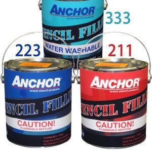 anchor filler for stencils