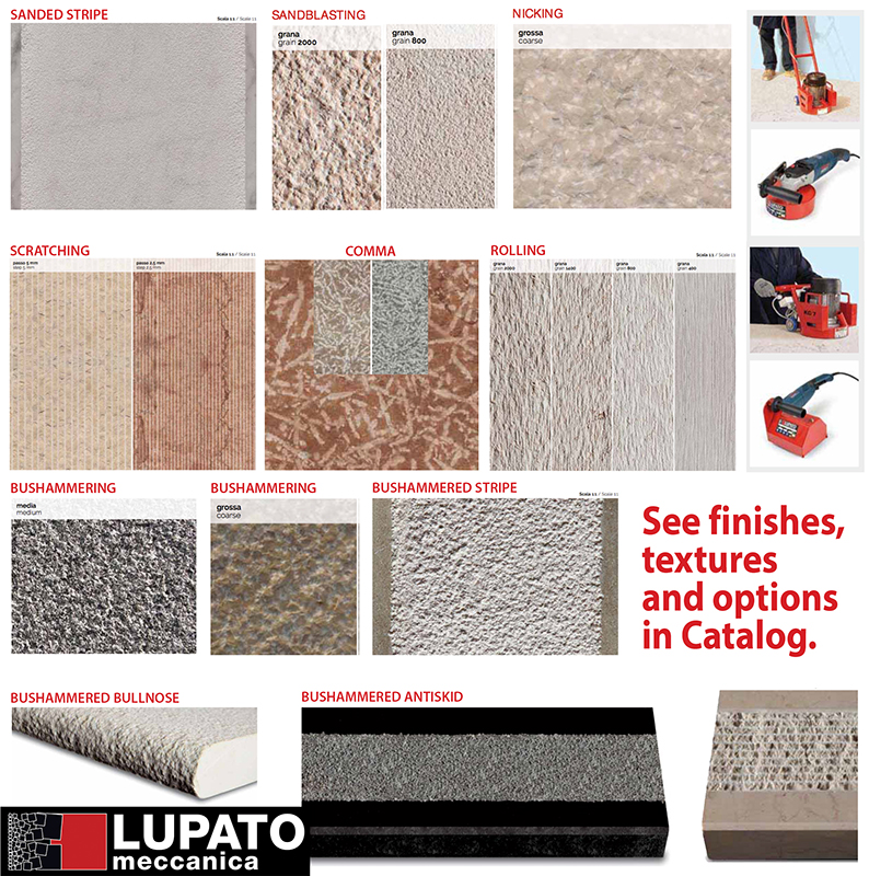 See more textures in Lupato catalog