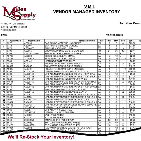 Miles Supply Vendor Management