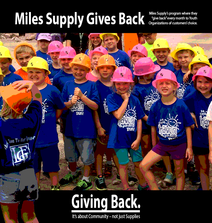 Miles Supply Giving Back