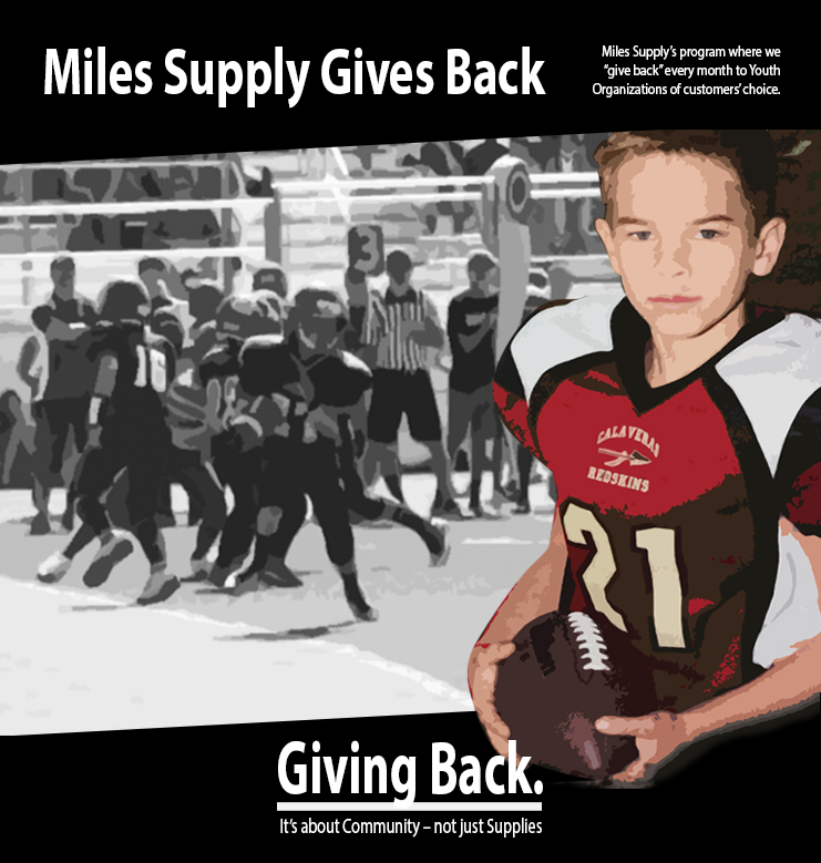 Giving Back Football Graphic