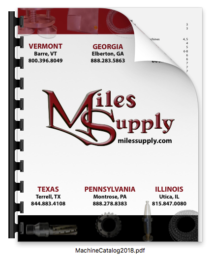 Miles Supply Machines & more catalog - 2018