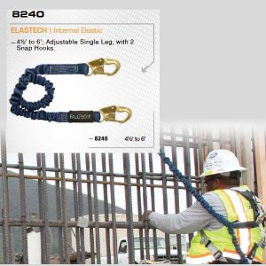 ElasTech® Shock-Absorbing Lanyards 8240
