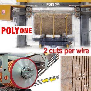 polyone from pellegrini - 2 cuts per diamond wire