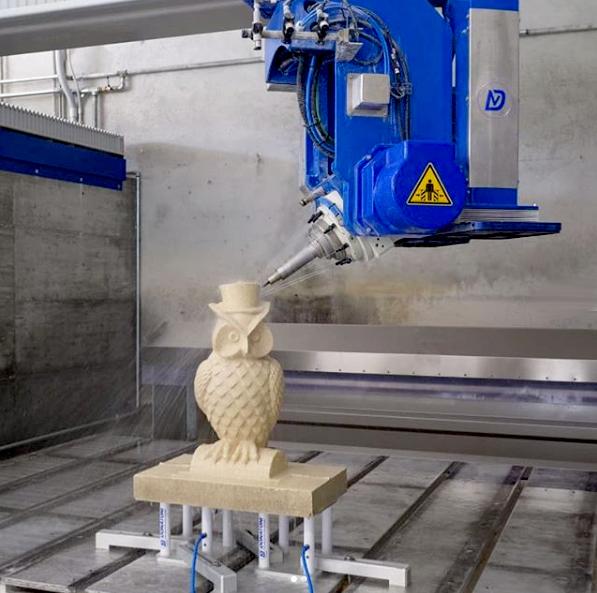 Donatoni creations CNC bridge saw carving an owl