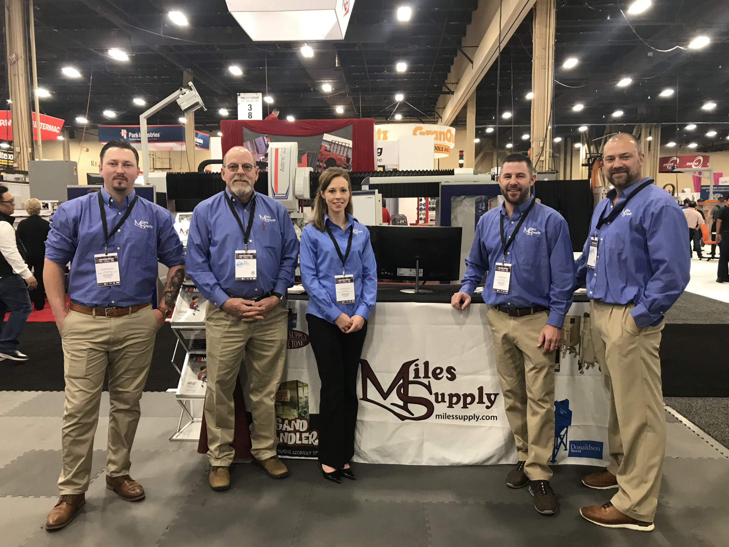 Miles Supply staff at TISE2020