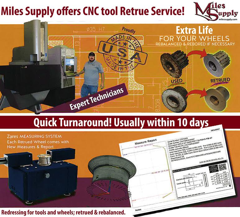 retruing service CNC tools