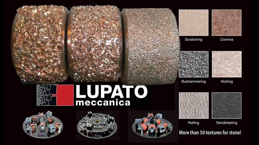 Lupato texturizing stone - 50 different textures for stone