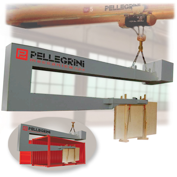 top loader for containers by Pellegrini