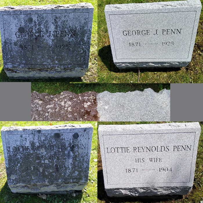before and after pictures using Granite Cleaner