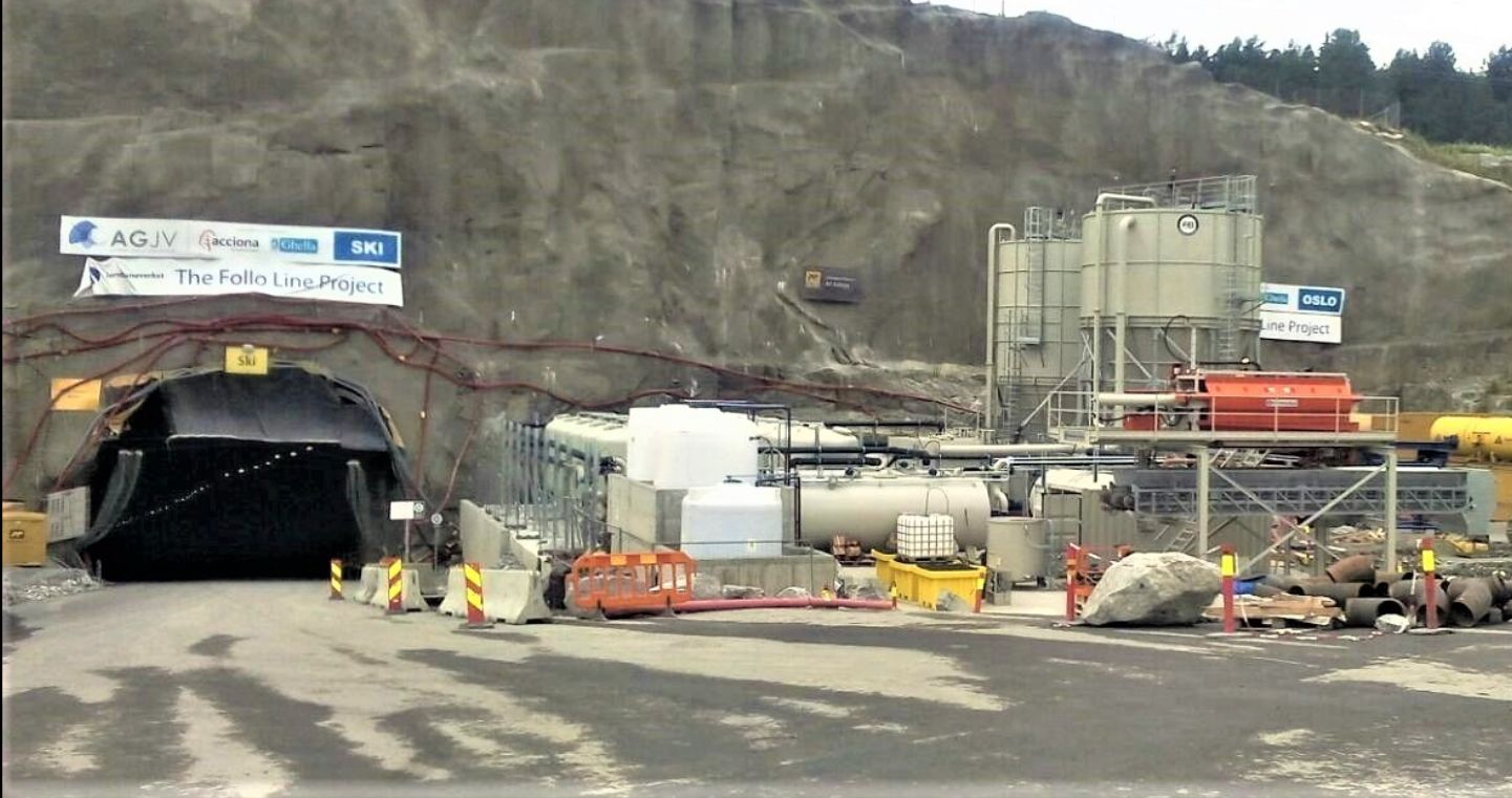 waste water treatment plant for tunnels